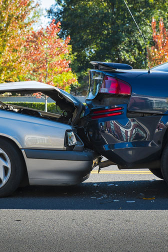 automobile accident involving two cars