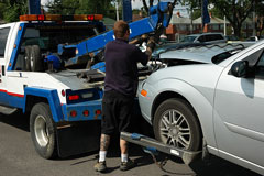 auto accident tow truck